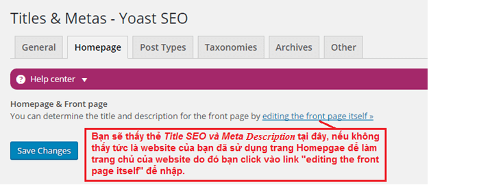 thiet lap thong so cho titles metas homepage