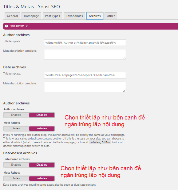 yoast seo titles metas tag archives tai alovoice