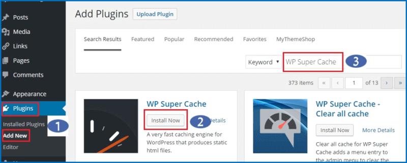 Hướng dẫn cài đặt Plugin WP Super Cache