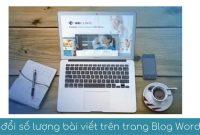 thay doi so luong bai viet tren trang blog